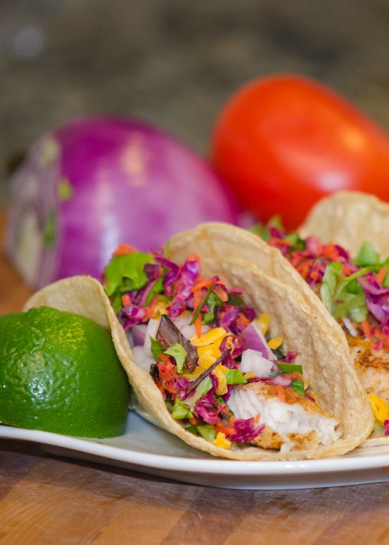 Tacos cabbages and last night on pinterest for How to cook fish tacos