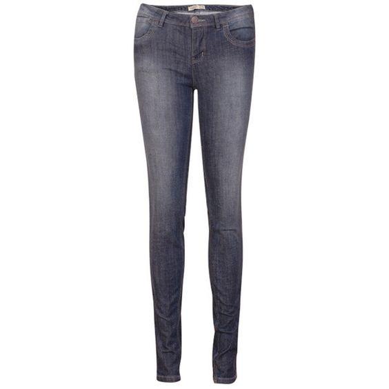 Rinse Threadbare Denim Blue Pants ($66) ❤ liked on Polyvore
