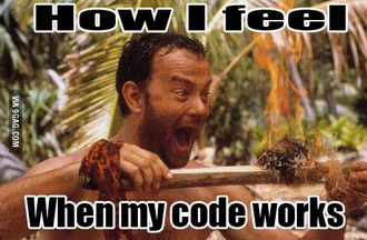How I fell when my code works