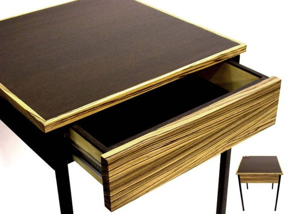 Nightstand Table Modern Home Decor End Table Chocolate Side Table Bedroom With Drawer Wood Small