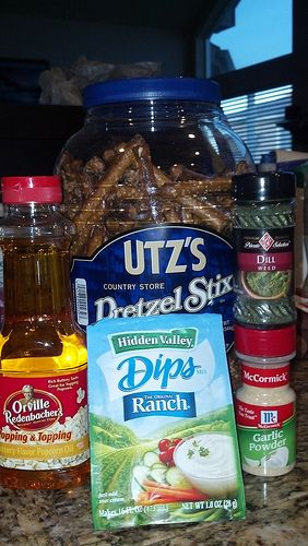 Seasoned Ranch Pretzels- I swear even if you do not really like pretzels...these are amazing!