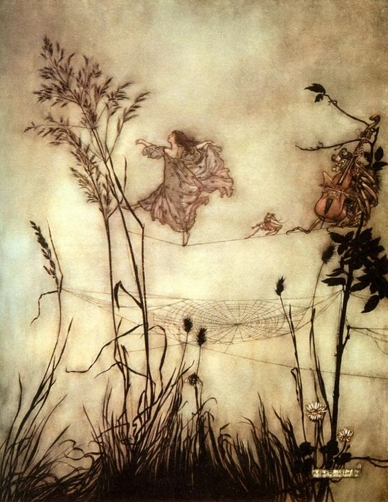 Peter Pan in Kensington Gardens by Arthur Rackham
