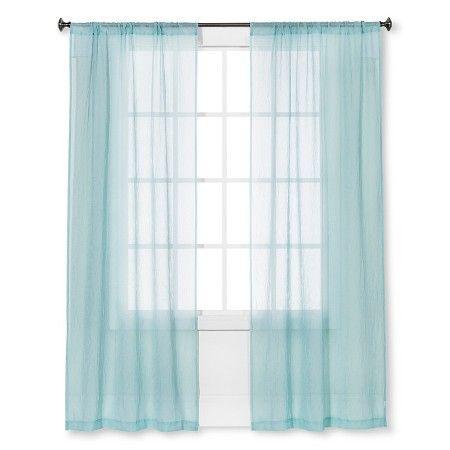 Crinkle Sheer Curtain Panel - Room Essentials® : Target ...