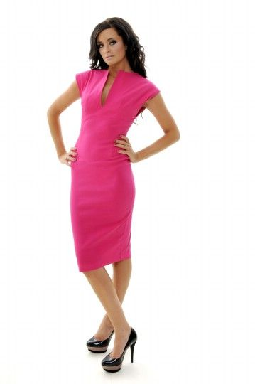 Loving the hot pink pencil dress- problem is finding a store that ...