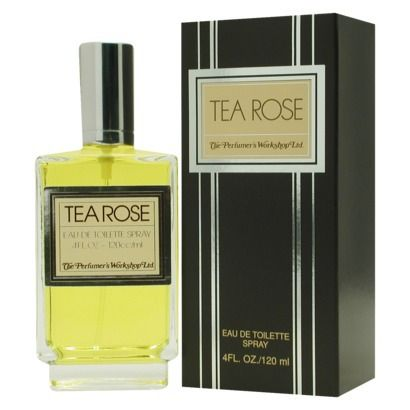 Launched In 1975 By Perfumers Workshop, TEA ROSE Perfume Contains Notes Which Include Spicy, Warm Florals. The Scent Is Recommended For Evening Use. The ultimate in warm, feminine floral fragrances, this eau de toilette is a romantic addition to whatever you're wearing. Notes of bergamot, rose, lily, jasmine, tuberose, amber, rosewood and sandalwood mingle together in this slightly spicy scent.