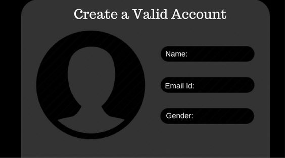 create valid account