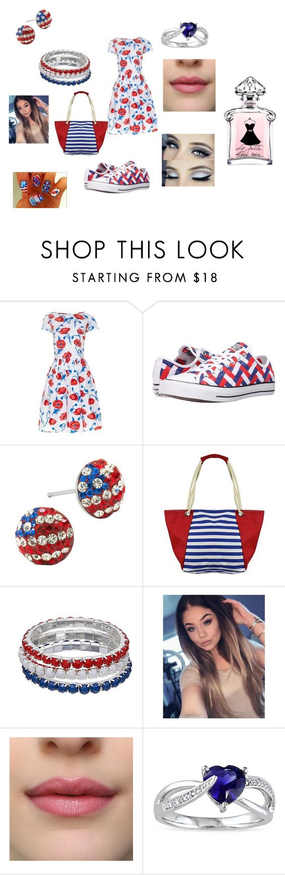 """""""Fourth of July Party"""" by fashiongirl2212 ❤ liked on Polyvore featuring Oscar de la Renta, Converse and Miadora"""