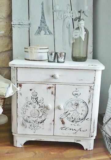 Au bonheur des anges shabby chic muebles restaurados for Peinture shabby chic