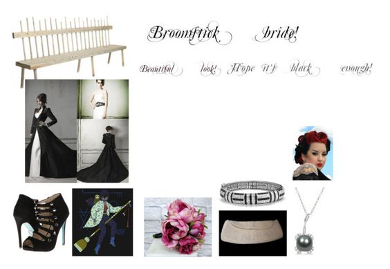 """""""For Sofia (friend) - Sofia's ideal wardrobe by me: #99: Broomstick bride!"""" by sarah-m-smith ❤ liked on Polyvore featuring Betsey Johnson, Allurez and Bling Jewelry"""