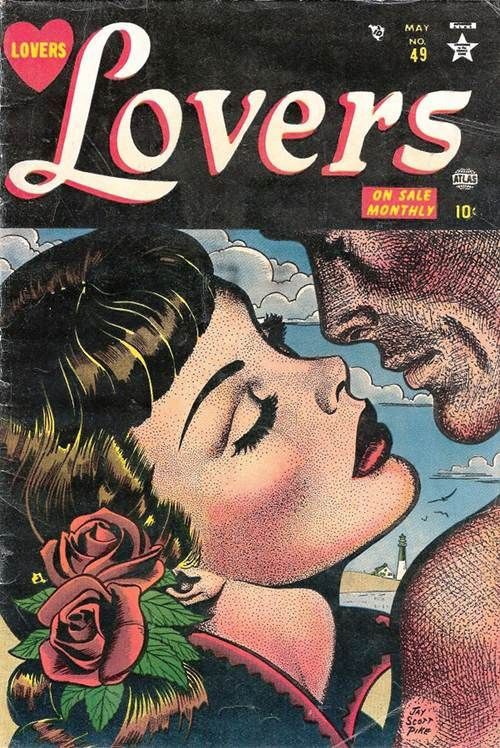 Beautiful cover to Lovers #49 by Jay Scott Pike