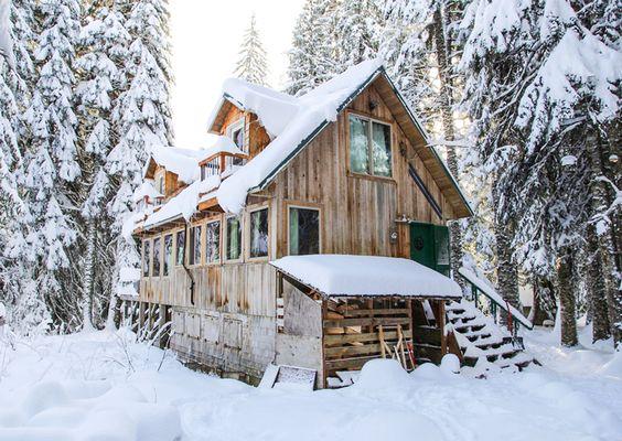 Trillium Lake Basin Cabins Cross-Country Ski and Snowshoe Cabin on Mt. Hood