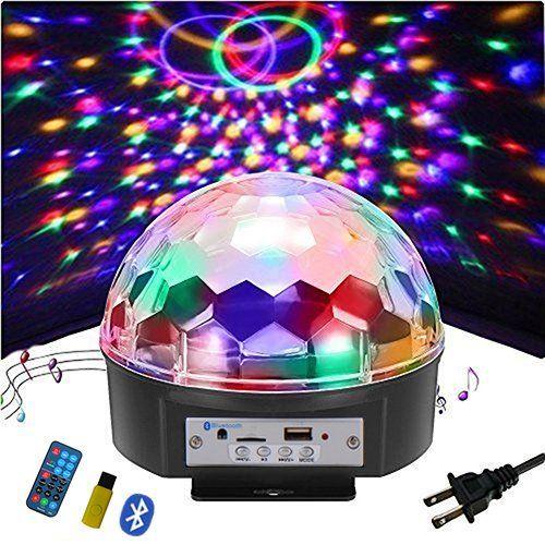Multi Color Crystal Magic Dj Ball Lights Disco Light Speaker Stage Light Voice Activat Bluetooth Function Remote Led Disco Ball Disco Ball Light Disco Lights