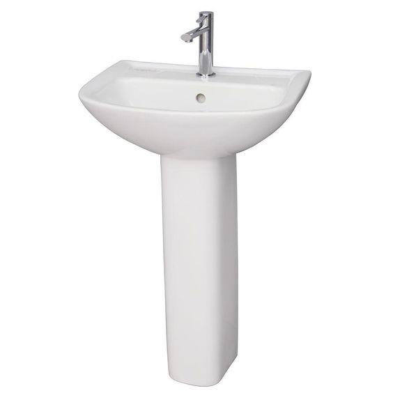 S O Barclay Products Washington 650 25 In Pedestal Combo Bathroom