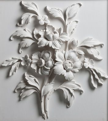 Flower study in stucco
