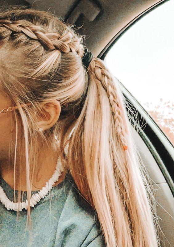 P I N T E R E S T Aerinking06 Long Hair Styles Hair Styles Braided Ponytail Hairstyles