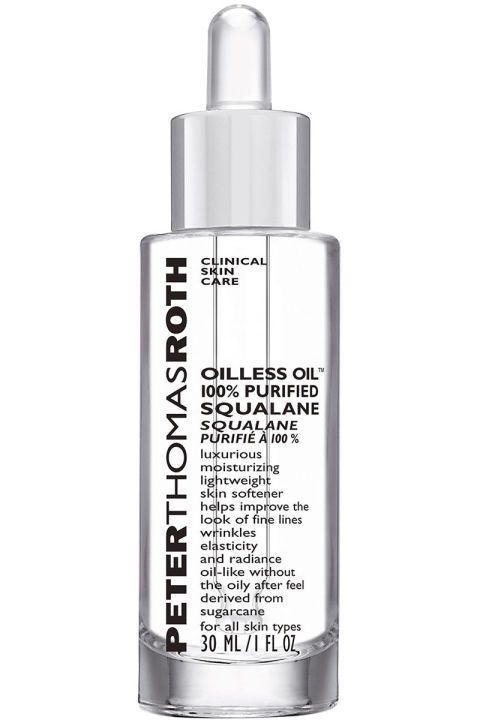 Peter Thomas Roth Oilless Oil 100% Purified Squalane, $38, peterthomasroth.com.