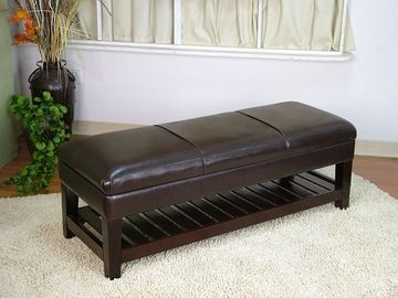 Large Faux Leather Bench With Lift Top by 4D Concepts Furniture 891-555799