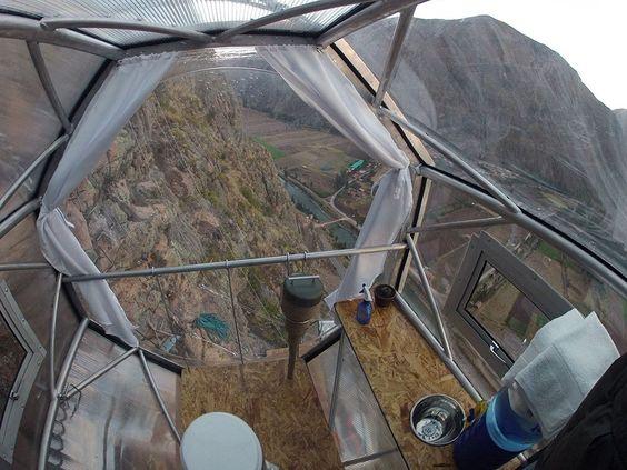 Dormiria numa capsula no Peru?