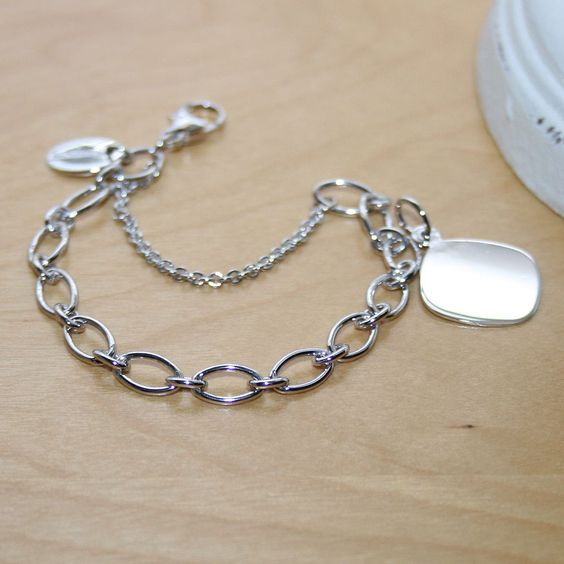 BeadifulBABY My First Charm bracelets for girls. Engravable charm included. Free engraving.