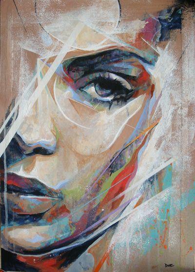 Drawing Lines With Oil Paint : Creativ Œuvres d art portrait et créativité