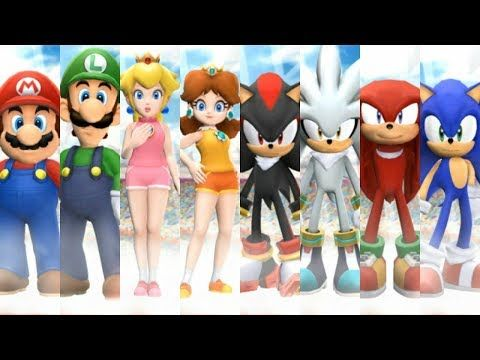 Mario And Sonic At The London 2012 Olympic Games All Characters Youtube Mario Game Character Sonic