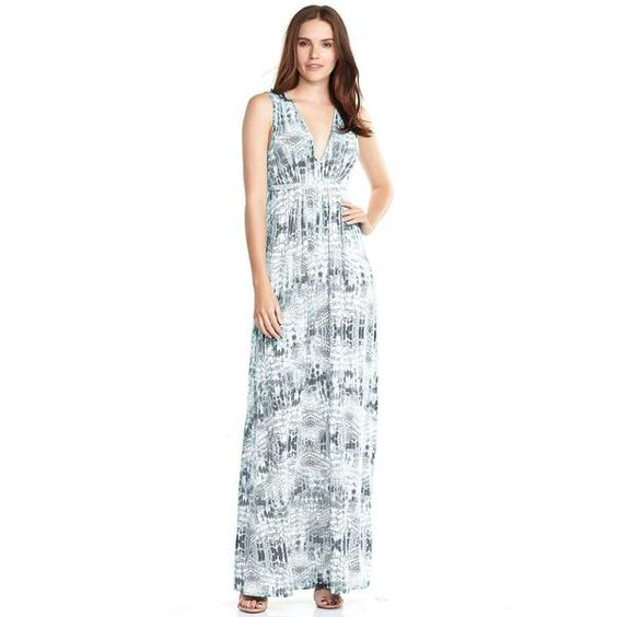 """This sleeveless dress features a Deep-V on both the front and back for a touch of sex appeal. Made from modal spandex.    > Length: 48"""" center front…"""