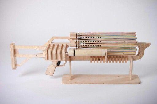 7 Rubber band machine gun