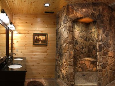 Stone Shower Yes For The Home Pinterest Lakes