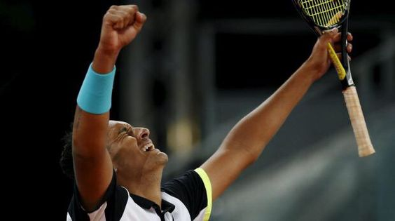 Mutua Madrid Open 2015 R2 Kyrgios defeated Roger Federer