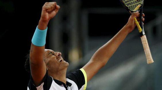 Mutua Madrid Open 2015 R2 Kyrgios defeated Roger Federer