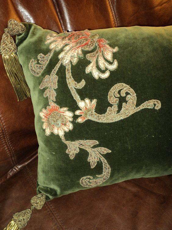 Velvet + Embroidery + Pillows: