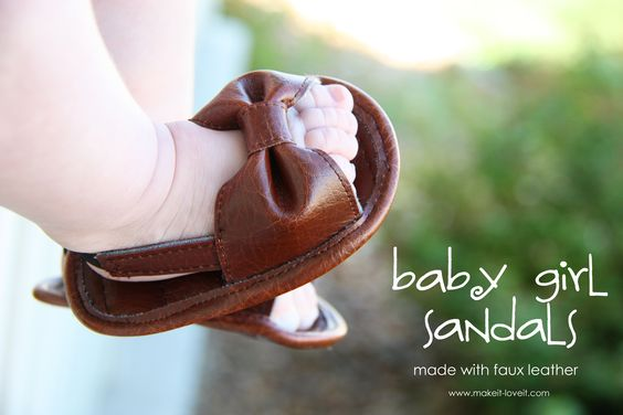 faux leather baby sandals