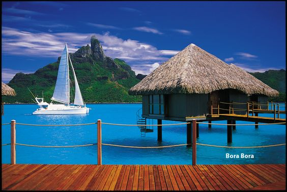 Been day dreaming of a Bora Bora vacation in an over the water hut for many a years.