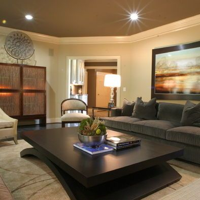 Living Room Gray Couch Tan Wall Red And Browns For The Home Pinterest