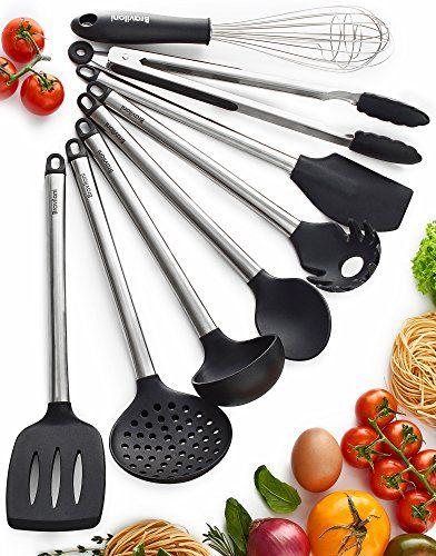 Kitchen Utensil Set – 8 Best Kitchen Utensils – Nonstick Cooking Spatulas $25.95