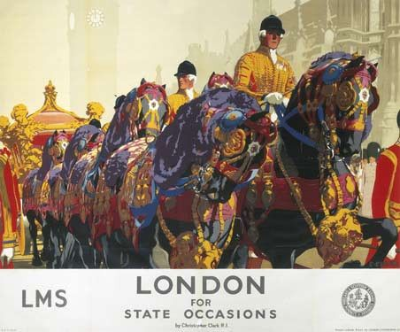 London for State Occasions by Christopher Clark Fine Art Print