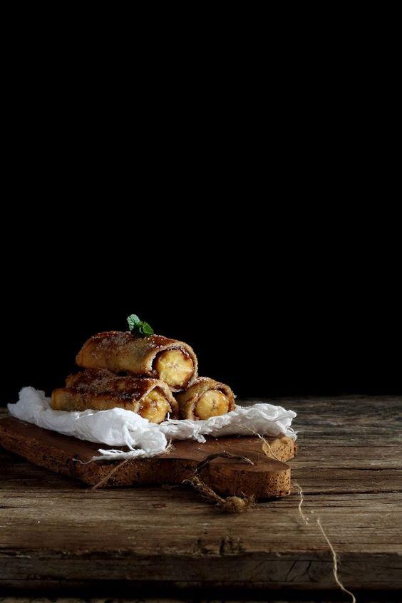 Torrijas de plátano y nutella ( French Toast Roll-Ups) | Cocina
