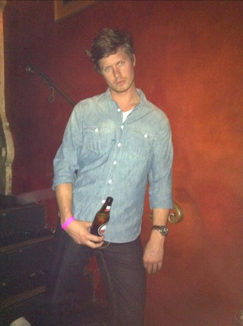 My future husband spotted: Anders Holm in a Canadian Tuxedo #workaholics #mindyproject