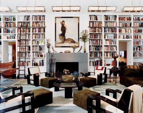 One of Diane von Fürstenberg's rooms. Books + Ladders