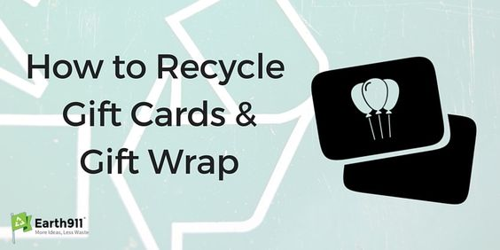 Have a bunch of empty gift cards lying around? Find out where to recycle them…