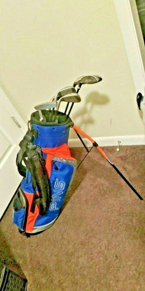 Ping Moxie Junior Rh Golf Iron Set W Ping Moxie Junior Dual Strap Golf Bag Ping Golf Iron Sets Golf Irons Golf Bags