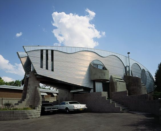 Definitely distinctive; private home in Albuquerque, New Mexico designed by Bart Prince