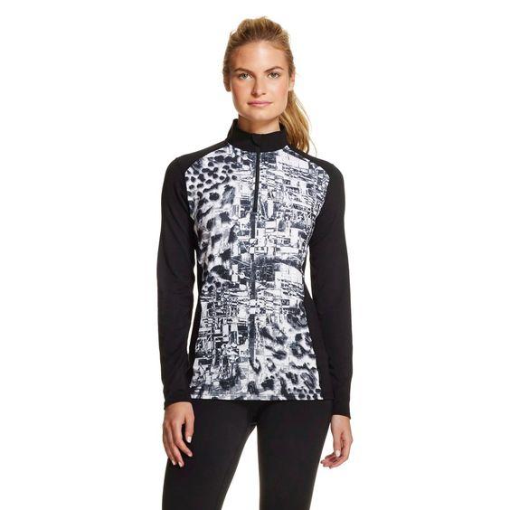 Hot Chillys Women's Printed Thermal Underwear Zip Up Shirt - Multi ...
