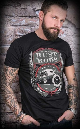 Steady T-Shirt - Rust and Rods