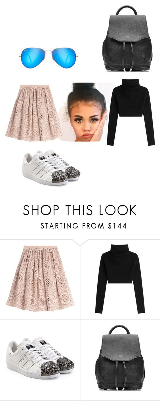 """Untitled #4541"" by brittklein ❤ liked on Polyvore featuring Burberry, Valentino, adidas Originals, rag & bone and Ray-Ban"