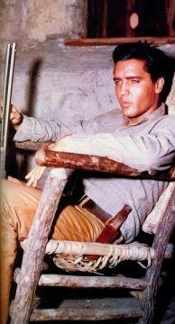 Elvis Flaming Star Movie 1960. Andy Warhole Painting of Elvis