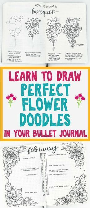 Step By Step Planner Doodles For Bullet Journal Decoration Flower Doodles Flower Drawing Bullet Journal