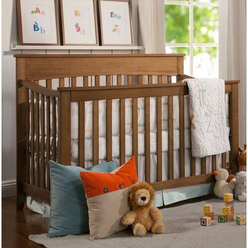 Grove 4 In 1 Convertible Crib Cribs Convertible Crib Brown Crib
