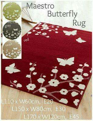 Beautiful rug available in 3 sizes and 4 different colours.