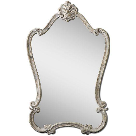 Uttermost Walton Hall Antique White Mirror 12833